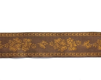 fancy JACQUART color Brown and chocolate art Ribbon 4 meters 644