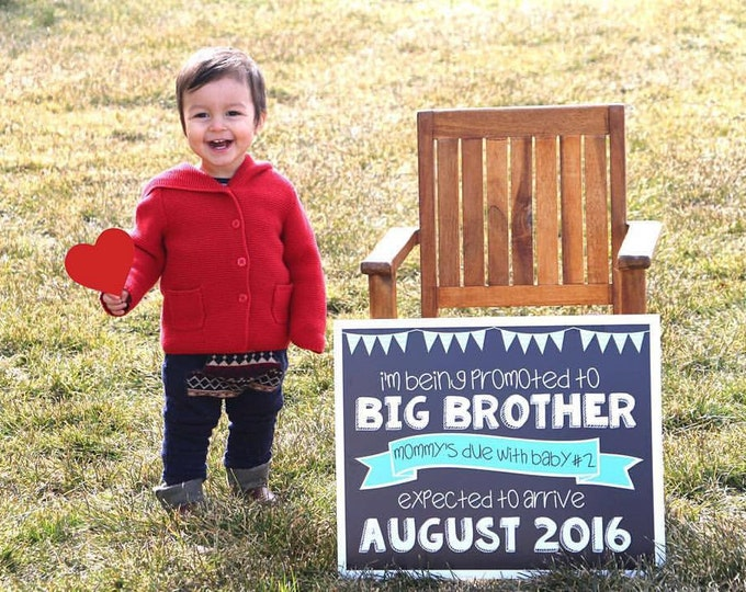 Promoted to Big Brother Sign/ Big Brother Chalkboard Sign / Going to Be Big Brother Chalkboard Sign / Promoted To Big Brother Announcement