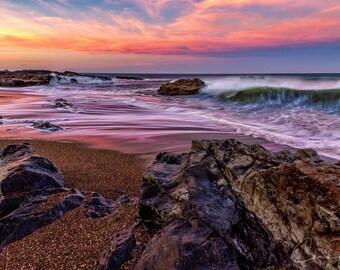 Photo Art - Beach Sunrise Photography - Oregon Coast