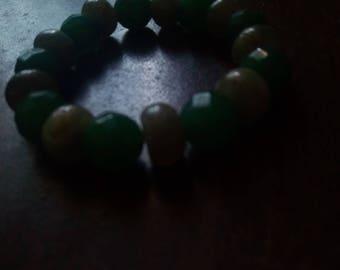 GOUT Aventurine & Labradorite Bracelet to fit a 6 inch wrist 10mm stones
