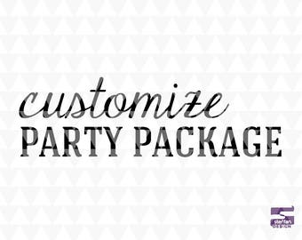 Customize Party Package