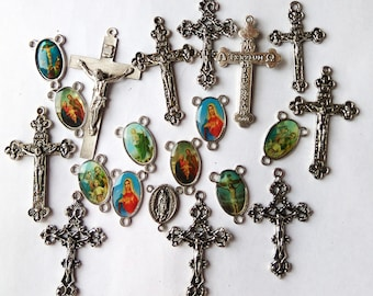 Rosary components - various lots available - please see all photos