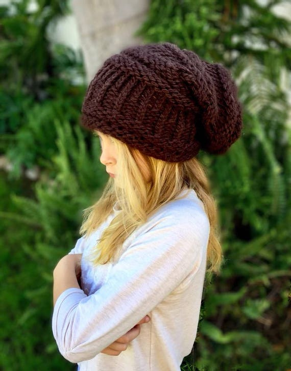 Loom Knitting Pattern Slouchy Hat Knifty Knitter Round Loom