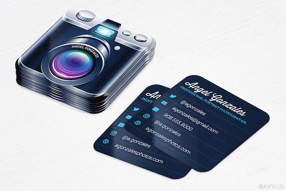 Mini camera business cards photographer rounded corners colourmoves Choice Image