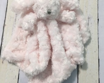 Baby blanket, baby Animal lovie, pink dog blankey, embroidered lovie, baby shower gift, monogram baby gift, monogram baby monogram blankie,
