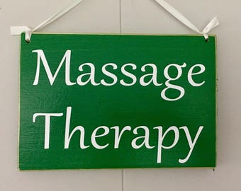 Massage Therapy 8x6 (Choose Color) Custom Do Not Disturb Spa Office Relax Studio Welcome Rustic Shabby Chic Sign