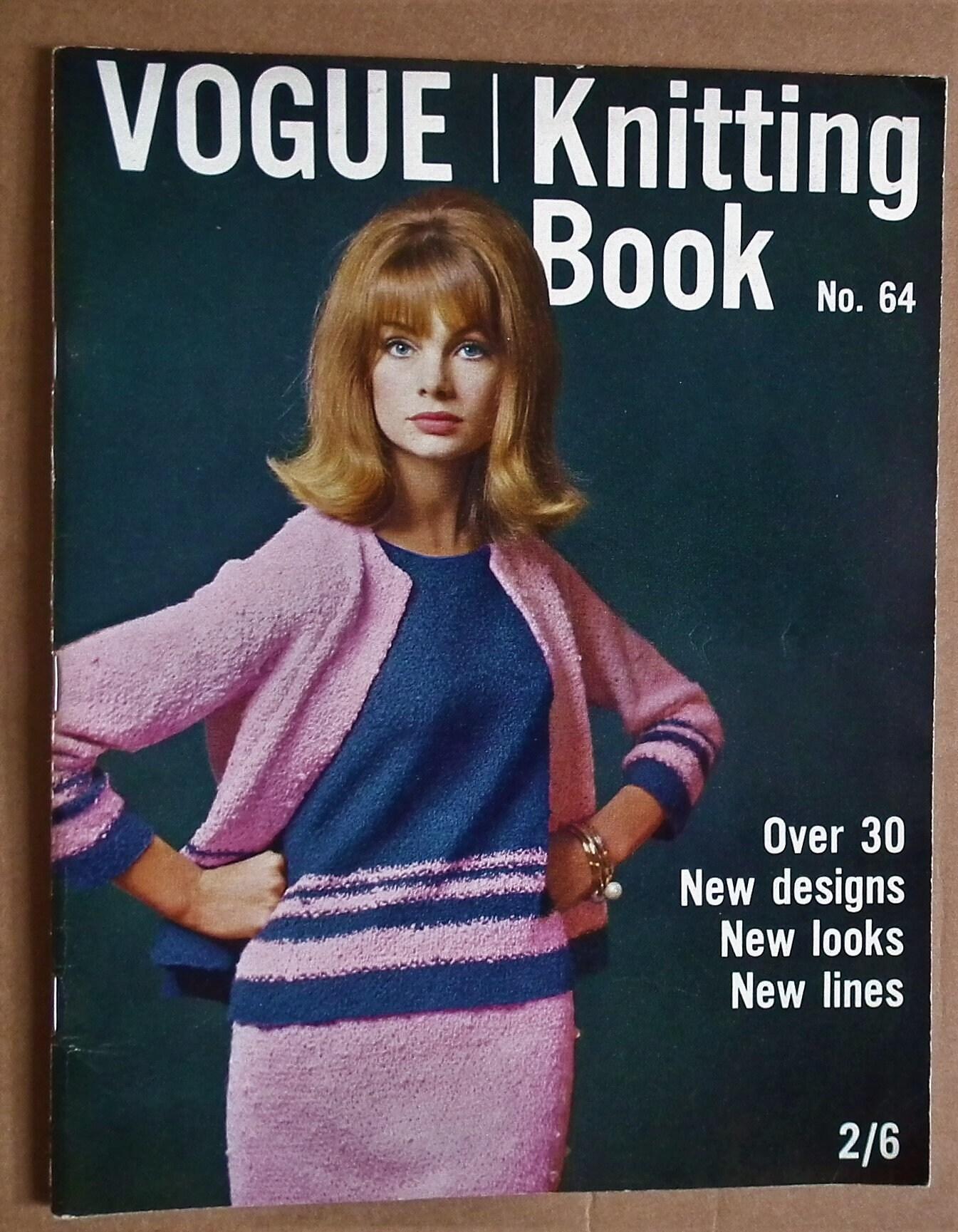 Vogue Knitting Book No 64 1964 UK - vintage 1960s knitting patterns ...