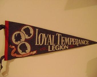 Loyal Temperance League Pennant