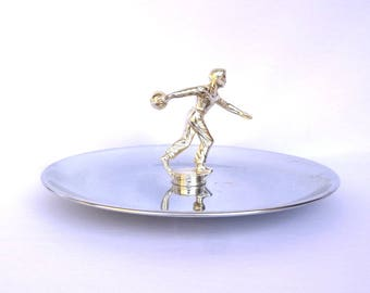 UPCYCLED BOWLING TROPHY Plate