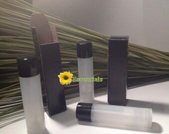 Black Lip Balm Tube Box - 10 Pack