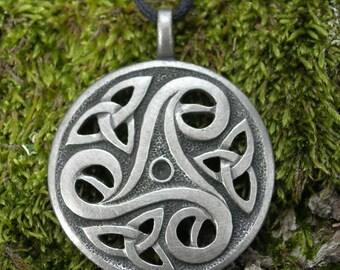 CELTIC TRISKELLE PENDANT Triskele Triskelion Necklace Amulet Talisman