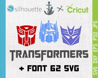 Transformers svg, Transformers logo, Transformers font, Cutting, Template SVG, EPS, Silhouette, DIY, Cricut, Vector, Commercial use ok