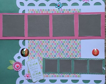 BFF - 12 x 12 Premade Scrapbook Pages