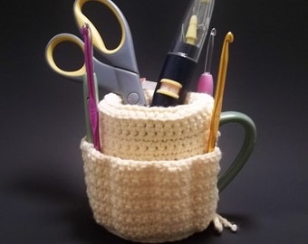 Cup Caddy, pdf crochet pattern.  Instant Download.
