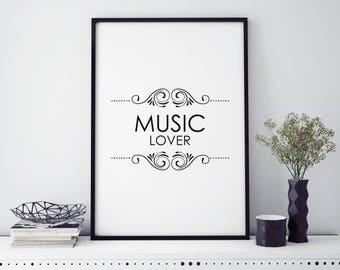 PRINT - Music Lover