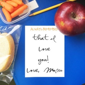 Lunchbox notes - notes from mom and dad - I love you because - just because notepad - back to school - gift for mom