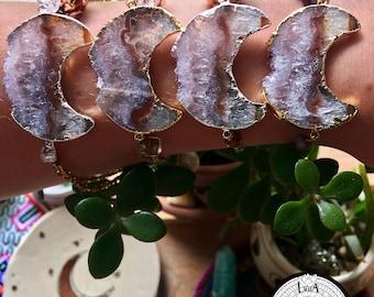 Quartz Moon Slice Bracelets
