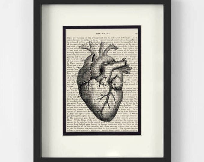 Featured listing image: Heart over Vintage Medical Book Page