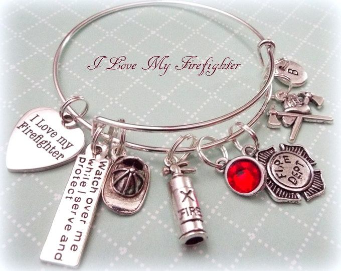 for this firefighters stamped friend tag picmia a girlfriend necklace jewelry firefighter love