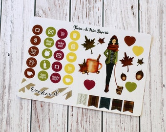 Fabulous Fall Task Icon and Decorative Stickers- FF