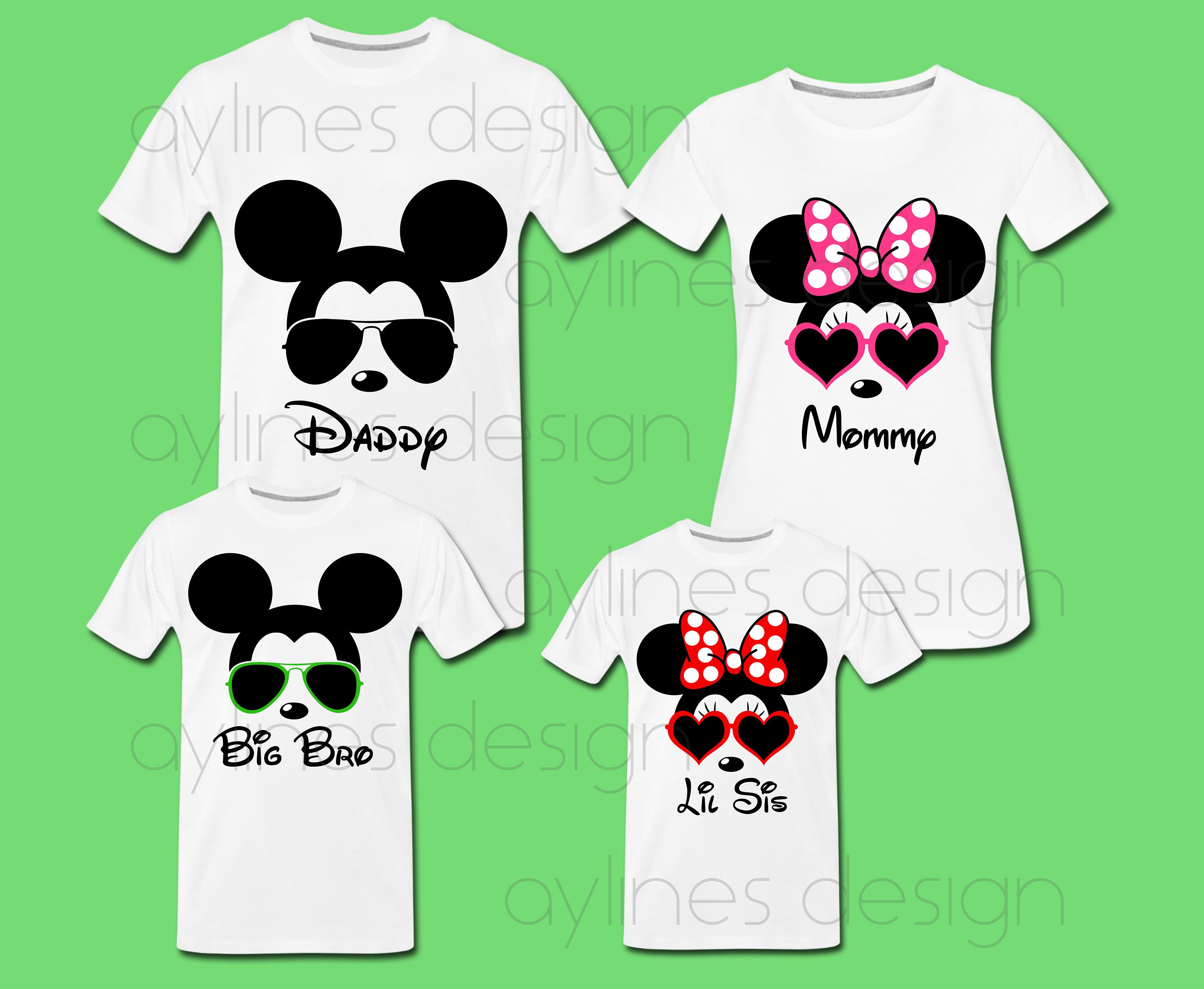 Minnie Mickey Mouse Sunglasses Prints For Disney Family