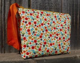 Zippered Pouch Bag - Zippered Bag - Wedding Gift - Cosmetic Case - Zippered Pouch - Cosmetic Bag - Cosmetic Pouch - Makeup Bag - Flowers