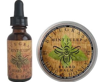 Mint Julep Beard Balm and Beard Oil Bundle