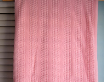 Pink Polyester Knit Fabric Yardage, Peachy Pink Mid Century Polyester Knit, Pink Sexy Sheer Stretchy Poly Knit, Retro Pink Lingerie Fabric