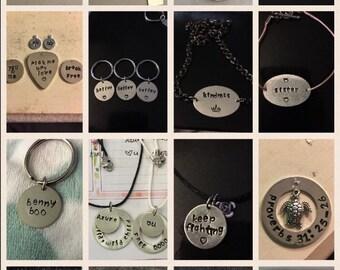 Custom Hand Stamping & Metal Stamping • custom hand stamping, custom jewelry, custom metal stamping, custom hand stamped jewelry, customized