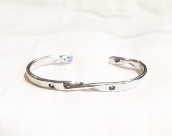 Baby's First Birthstone Bracelet // Sterling Silver