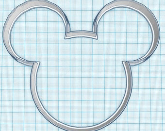 Round Mouse Silhouette Cookie Cutter