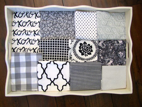 Girls Black, White & Grey 32x32 Minky Blanket Made to Order