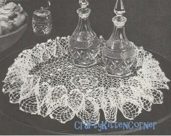 Irish Rose Ruffle Doily Crochet PDF Pattern