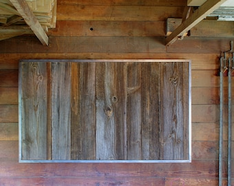 queen headboard - from reclaimed wood and recycled content steel - rustic modern, urban industrial salvage