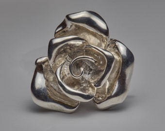 Sterling silver ring Rose ring Gift for her Flower jewelry Festive ring 925 All size ring