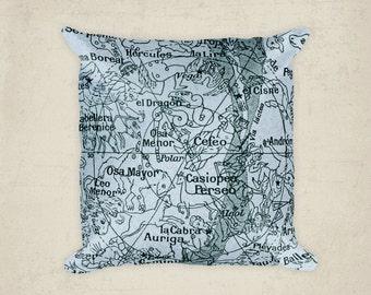 Constellation pillow, Decor Home,  Ursa minor, Ursa major, Decorative Bed Throw Pillow, Room Art, Space Decor