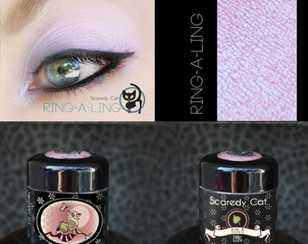 Duochrome Pink-Violet Eye Shadow  - Loose Mineral Pigment Eyeshadow - Scaredy Cat - Ring-A-Ling - 5 mL Sifter