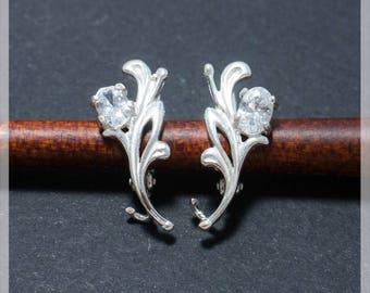 Sterling Silver Leverback, Ear hooks, Ear wire,  earrings components