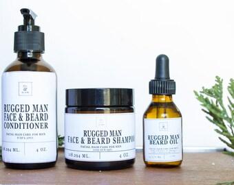 Rugged Man Beard Oil / Beard conditioner / Beard shampoo / essential oil + 100% natural + beard shaping, beard conditioning
