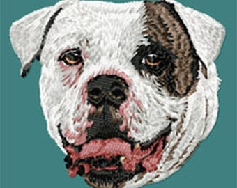 American Bulldog Embroidered Patches and Hats