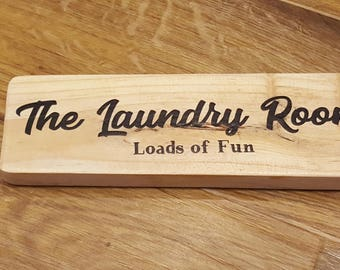Laundry room sign, funny laundry quotes, laundry plaque, loads of fun