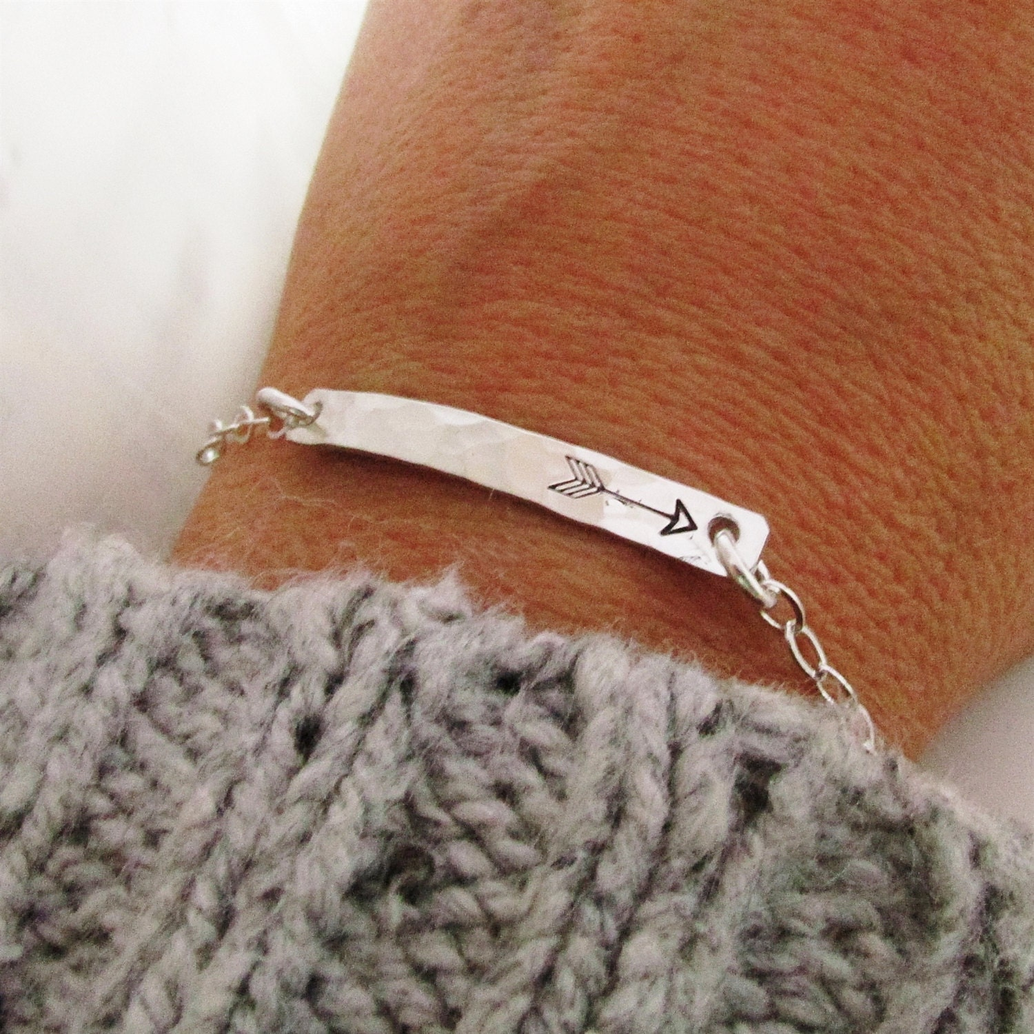 e bracelet j products creations silver bangle arrow