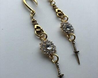 OFFERING ear weights 4 mm 6 gauge g super lightweight dagger crystals