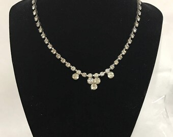 1950s | Faux Diamond Neclace | costume jewelry