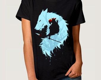 Princess Mononoke Art T-shirt, Studio Ghibli Tee, All Sizes