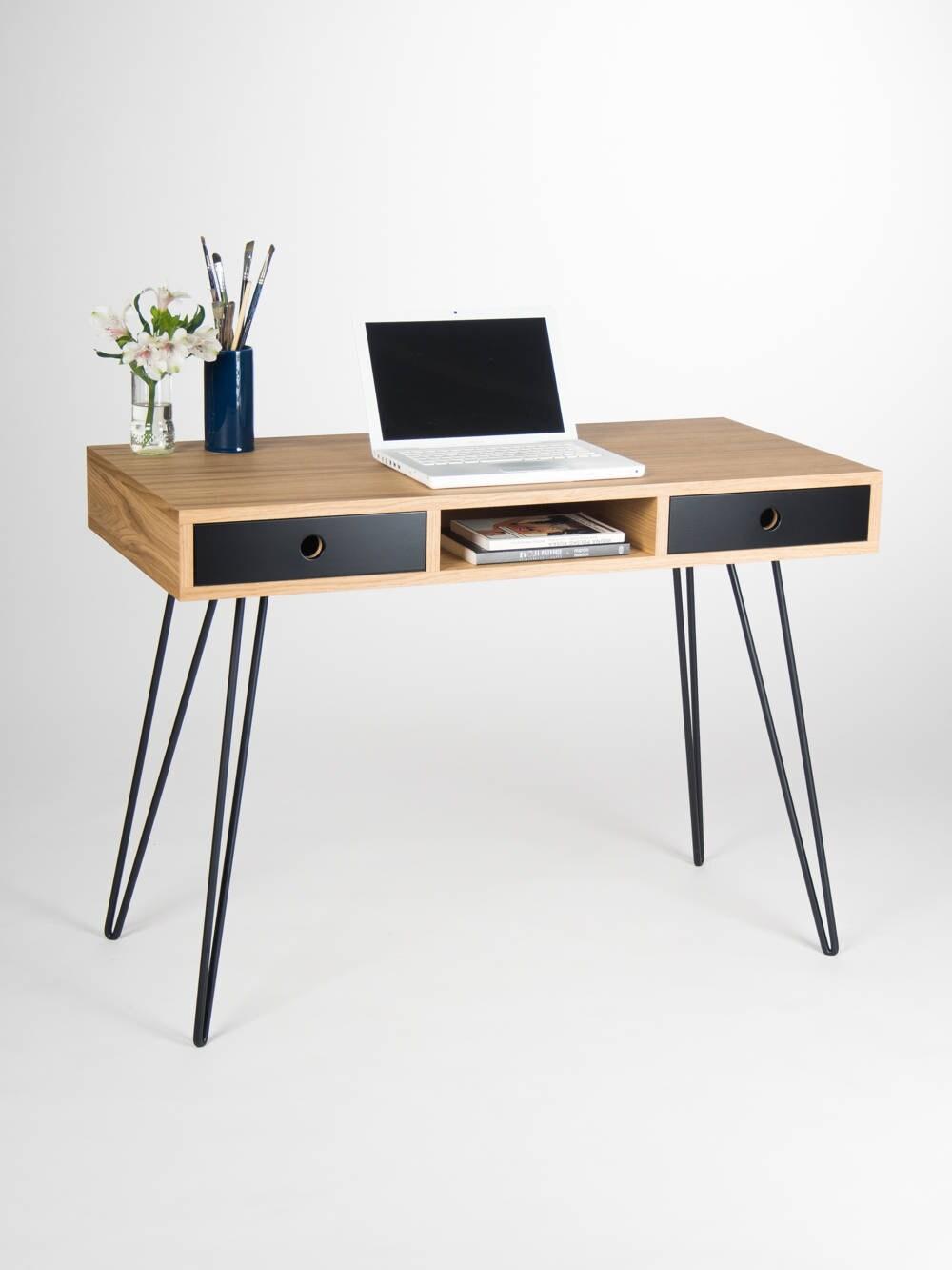 accueil bureau industriel petite table bureau avec tiroirs. Black Bedroom Furniture Sets. Home Design Ideas