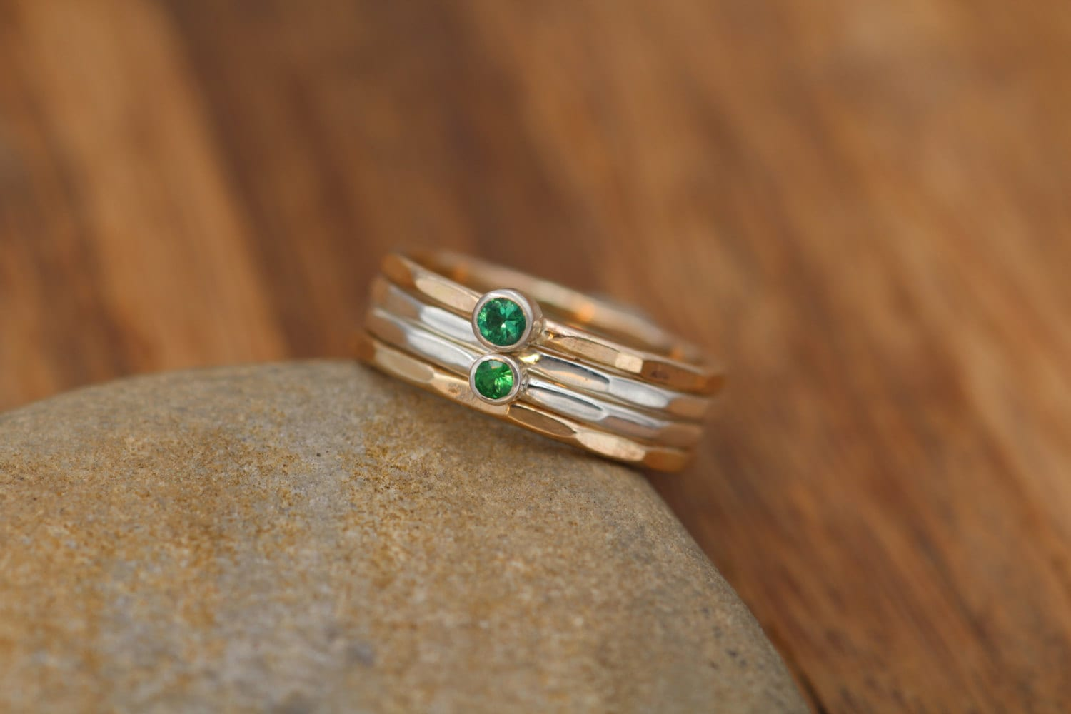 tsavorite garnet design product with gold ring rings rose metamorphosis jewelry