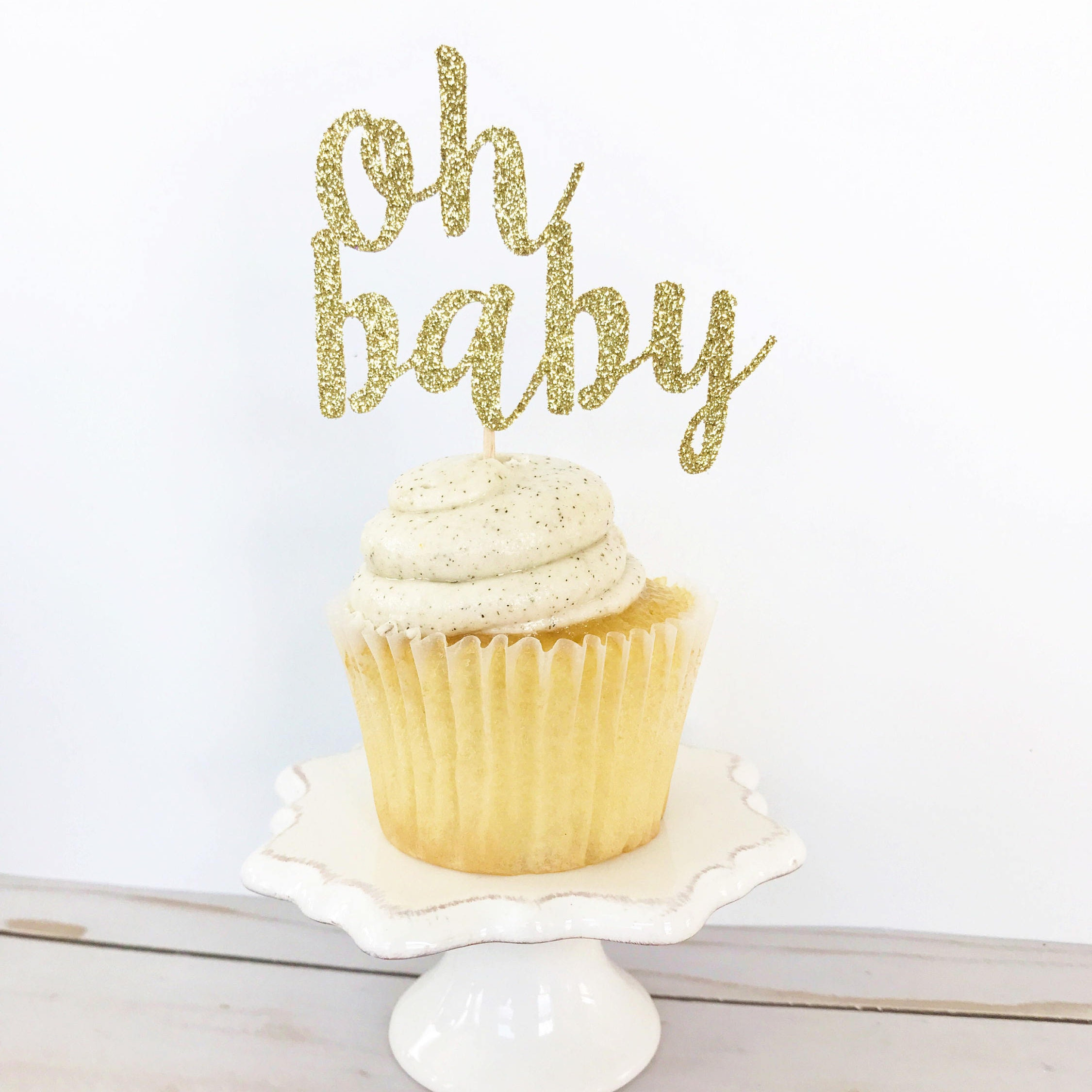Oh Baby Cupcake Toppers Oh Baby Cake Topper Gender Reveal