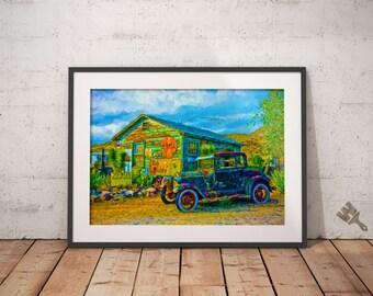 Vintage Car Painting Print