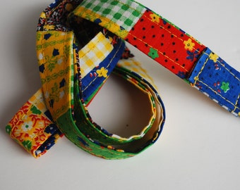Keychain lanyard.   Patchwork multicolored lanyard. ID badge lanyard. Lobster Claw Clasp